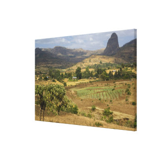 A big scenic view of a big rock mountain stretched canvas prints