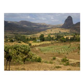 A big scenic view of a big rock mountain postcard