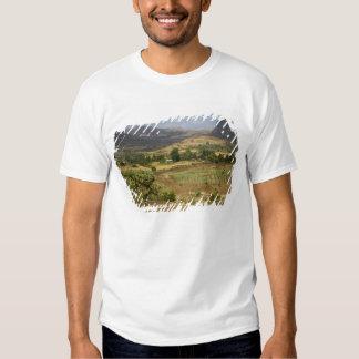 A big scenic view of a big rock mountain t-shirt