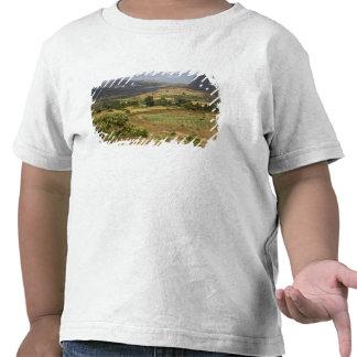 A big scenic view of a big rock mountain tee shirt