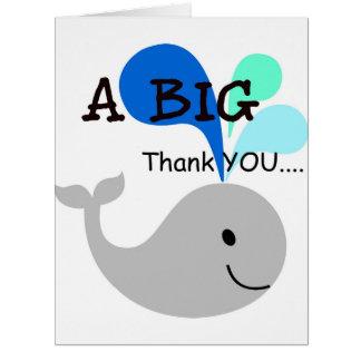 A Big Thank YOU Whale Card