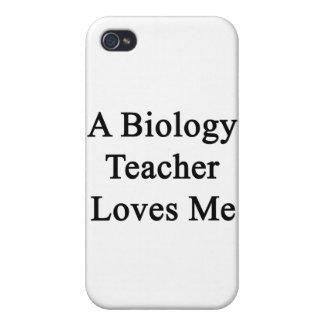 A Biology Teacher Loves Me iPhone 4 Cases