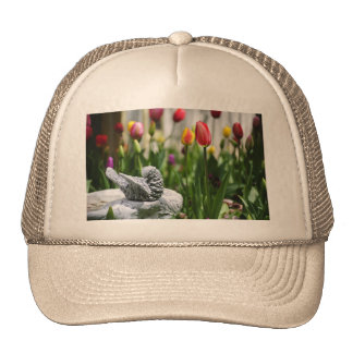 A Bird And A Tulip Mesh Hats