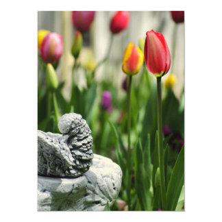 A Bird And A Tulip Invite