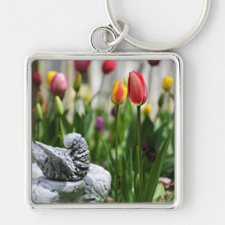 A Bird And A Tulip Key Chain
