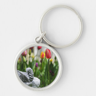 A Bird And A Tulip Key Chains