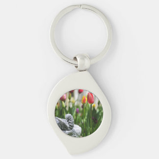 A Bird And A Tulip Keychains