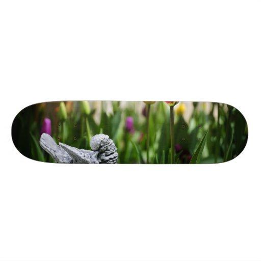 A Bird And A Tulip Skateboard