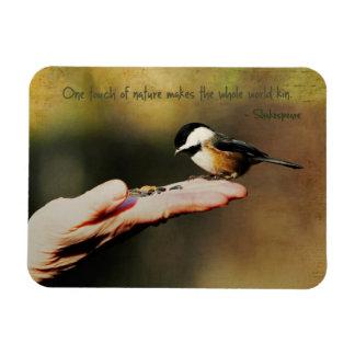 A Bird in the Hand Rectangular Photo Magnet