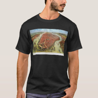 A Bird's Eye View of Manhattan, 1865 J. Bachmann T-Shirt