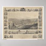 A Birds-Eye View Sacramento, 1857 Posters