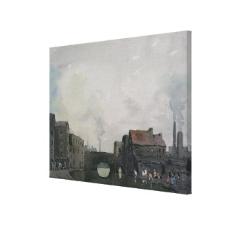 A Birmingham Canal Canvas Print