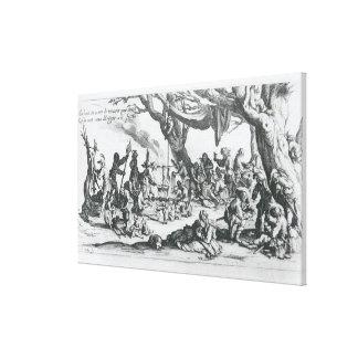 A Birth in a Gypsy Camp Canvas Print