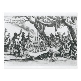 A Birth in a Gypsy Camp Postcard