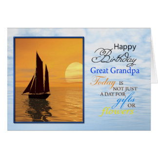 A birthday card for Great Grandpa