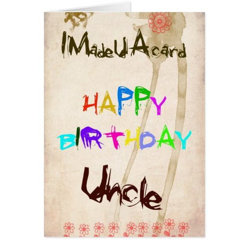 A Birthday Card For Uncle