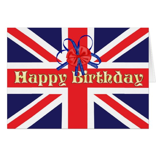 A Birthday card with a Union Jack