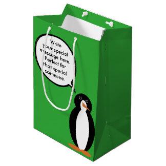 A Birthday Suited Mr. Penguin Medium Gift Bag