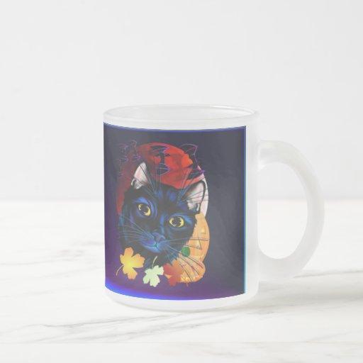 A Black Cat Halloween mugt Mug