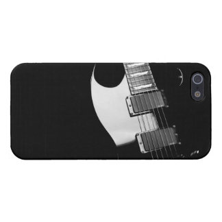 A black Guitar iPhone 5 Cases
