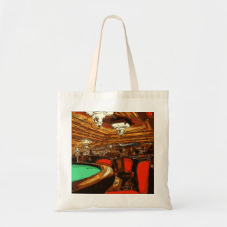 A Black Jack Table in the heart of a Vegas Casino Canvas Bags