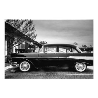 A Black Vintage Car Photo Art
