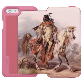 A Blackfoot Indian on horse-back Incipio Watson™ iPhone 6 Wallet Case