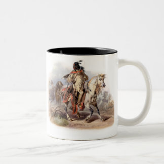 A Blackfoot Indian on horse-back Coffee Mugs
