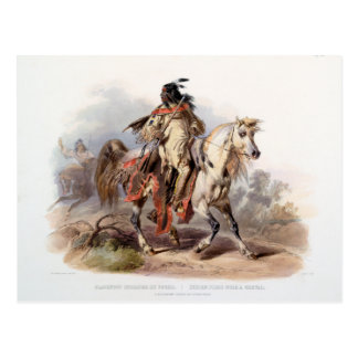 A Blackfoot Indian on horse-back Postcard