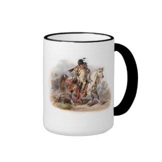 A Blackfoot Indian on horse-back Ringer Mug