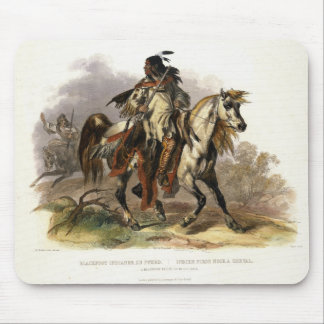 A Blackfoot Indian on Horseback, plate 19 from Vol Mouse Pad