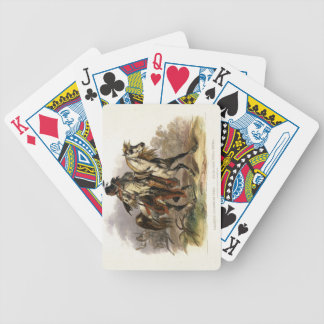 A Blackfoot Indian on Horseback, plate 19 from Vol Playing Cards