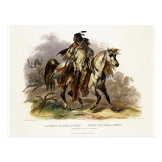 A Blackfoot Indian on Horseback, plate 19 from Vol Postcard