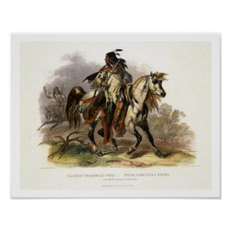 A Blackfoot Indian on Horseback, plate 19 from Vol Poster