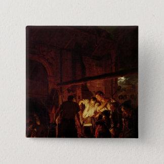 A Blacksmith's Shop, 1771 15 Cm Square Badge