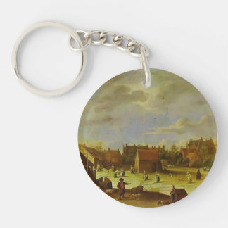 A Bleaching Ground by David Teniers the Younger Acrylic Keychain