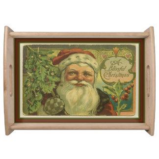 A Blissful Christmas Santa Serving Tray