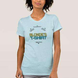 a blonde T-Shirt