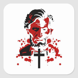 A Bloody Hero-Abraham Lincoln Square Sticker