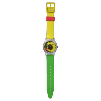 A Blossom Colourful Sunflower Wrist Watch