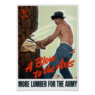 A Blow To The Axis -- WWII Poster