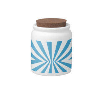 A blue colored pattern candy jar