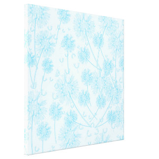 A Blue Dandelion Gallery Wrapped Canvas