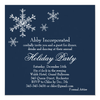 A Blue Glamorous Holiday Invitation (corp)