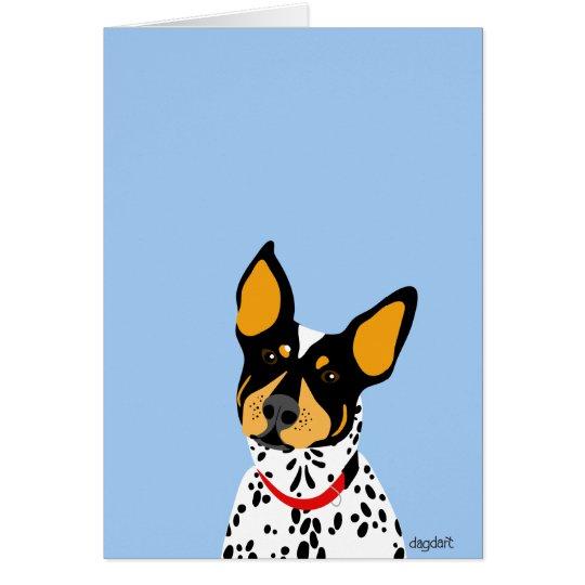 A Blue Heeler Card