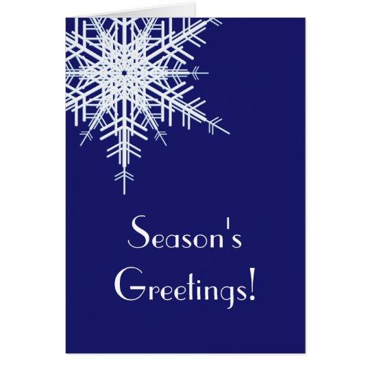A Blue Holiday Card Offset Snowflake (indigo)