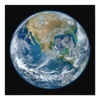 A Blue Marble Image of the Planet Earth 13 Cm X 13 Cm Square Invitation Card