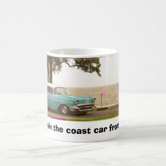 A blue & white cruisin the coast car 2006 on th... basic white mug