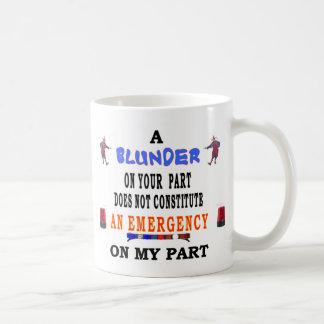 A BLUNDER BASIC WHITE MUG