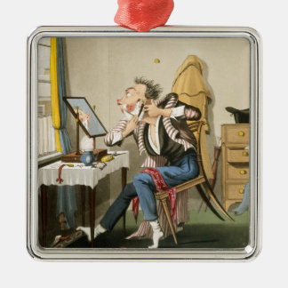 A Blunt Razor, pub. by Hunt, 1827 (coloured etchin Christmas Ornament